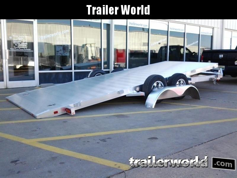 2022 Aluma 8216 Tilt Bed Aluminum Open Car Hauler Trailer