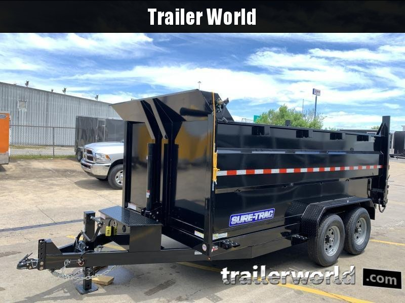 2020 Sure-Trac 14' Telescopic Dump 4' Sides Trailer 14K GVWR Telescopic