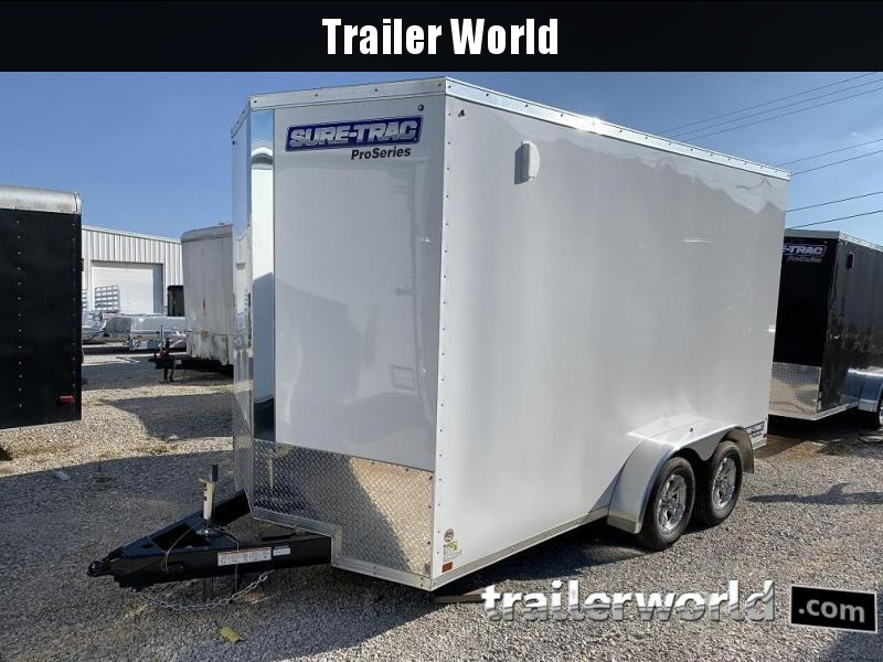 2020 Sure-Trac 7' x 14' x 7.5' Pro Series Wedge Cargo Trailer  7K