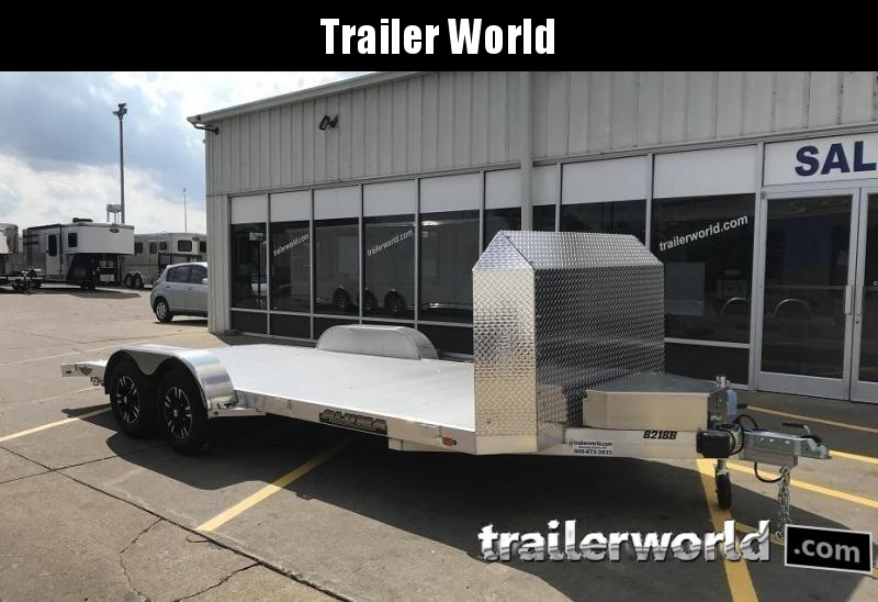 2021 Aluma Anniversary Edition 8218B Aluminum Open Car Trailer