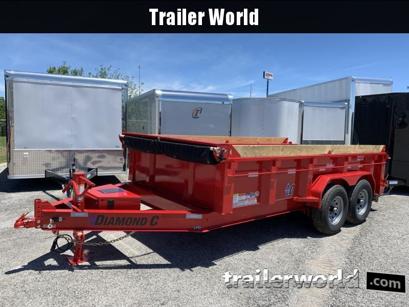 2021 Diamond C LPD 14' Dump Trailer Low Profile Commercial Grade