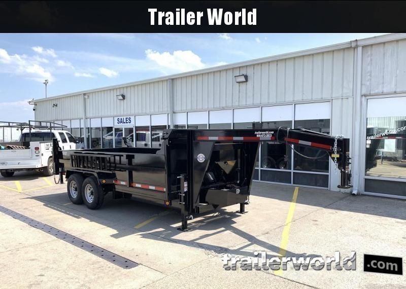 2021 QS 16' Gooseneck Dump Trailer 14K GVWR