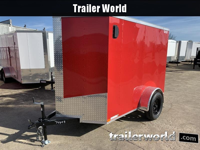 2021 Lark 5' x 8'  Enclosed Vnose Cargo Trailer