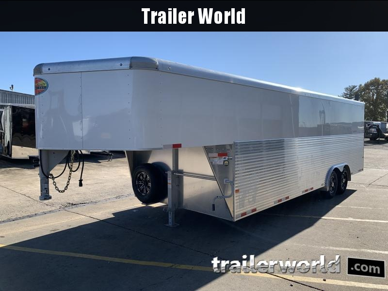 2021 Sundowner 32' Aluminum Gooseneck Cargo Trailer Spread Axles