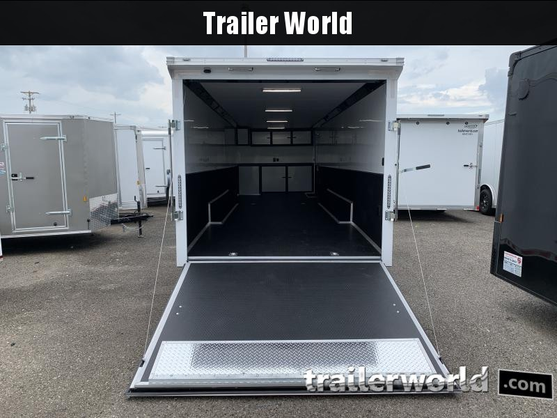 2020 Bravo Star 32' Enclosed Car Trailer w Full Access Door