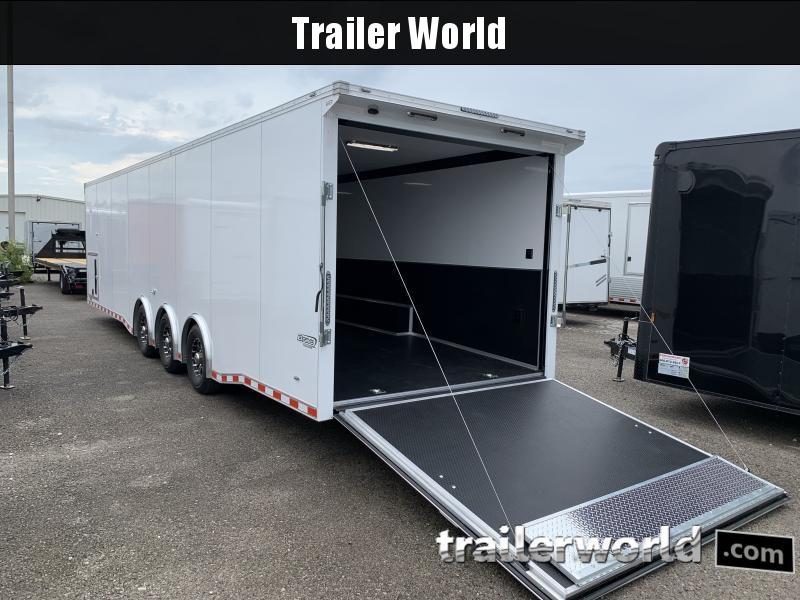 2020 Bravo Star 32' Enclosed Car Trailer w Full Access Door