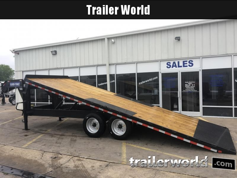 2020 Sure-Trac Gooseneck 24' Deck Over Tilt bed Equipment Trailer 17.5k GVWR