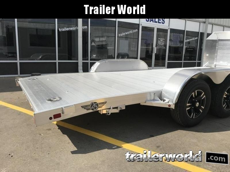 2021 Aluma Anniversary Edition 8220 20' Aluminum Open Car Trailer