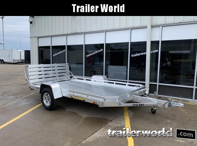 2022 Aluma 7712H BT 12' Aluminum Utility Trailer