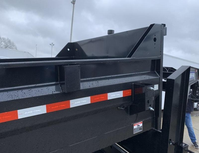 2021 Sure-Trac 16' Dump Trailer 21K GVWR Telescopic Goose