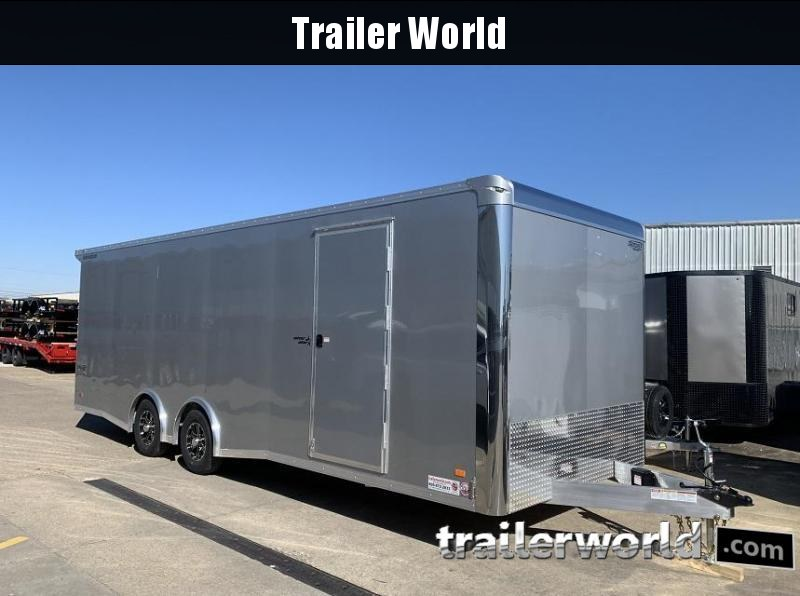 2021 Bravo Star 24' Aluminum Enclosed Car Trailer w Full Access Door