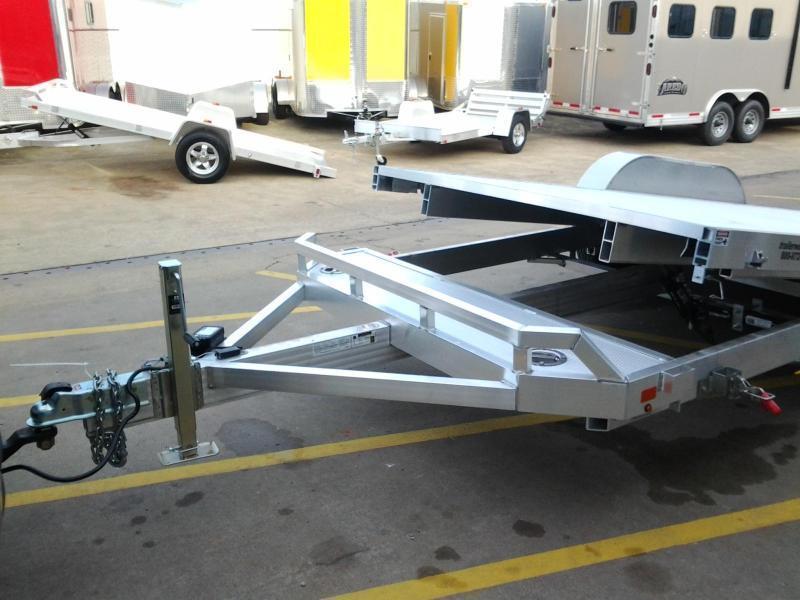 2020 Aluma 8220 Tilt Bed Aluminum Open Car Hauler Trailer 7k GVWR