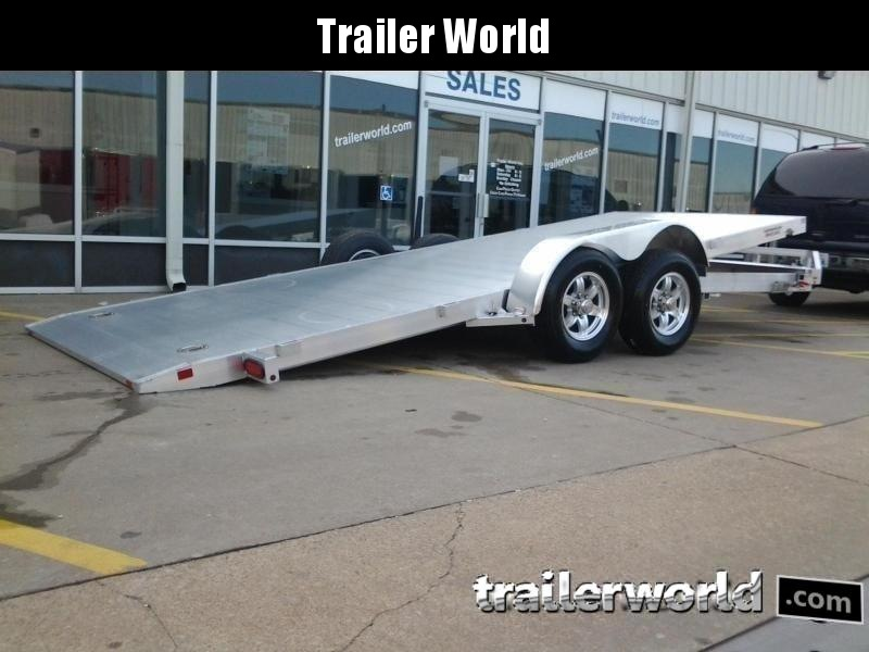 2020 Aluma 8220 Tilt Bed Aluminum Open Car Hauler Trailer 7k GVWR