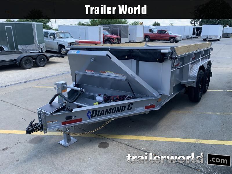 2021 Diamond C LPD 12' Dump Trailer Low Profile Commercial Grade