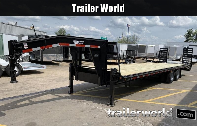 2021 Better Built 25' + 5'  10 Ton Gooseneck Flatbed Trailer