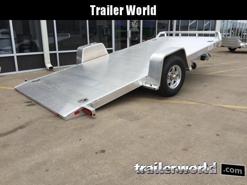 2022 Aluma 8214HS 14' Single Axle Aluminum TILT Open Car Hauler Trailer