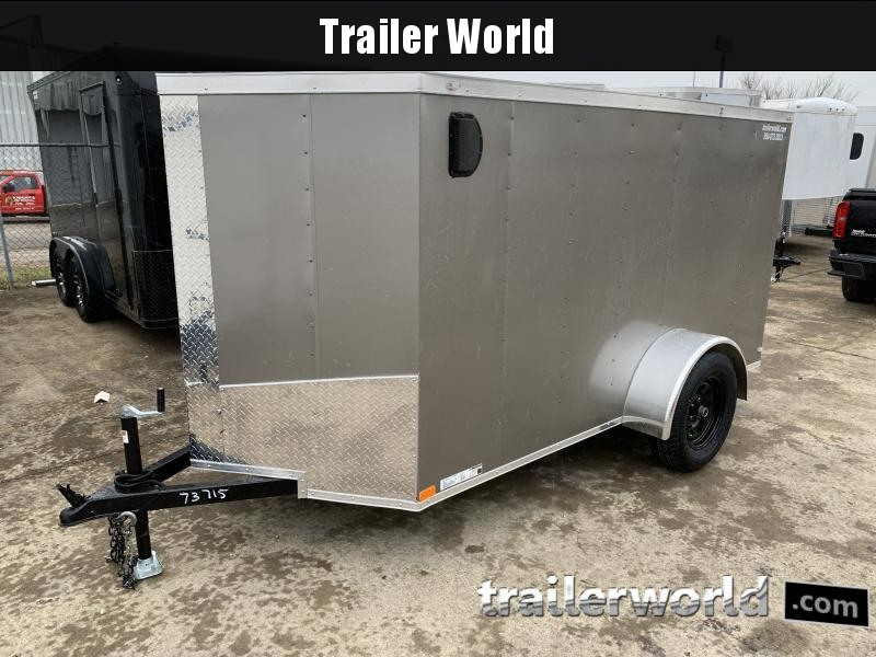 2021 Lark 5' x 10' Vnose Ramp Door Trailer