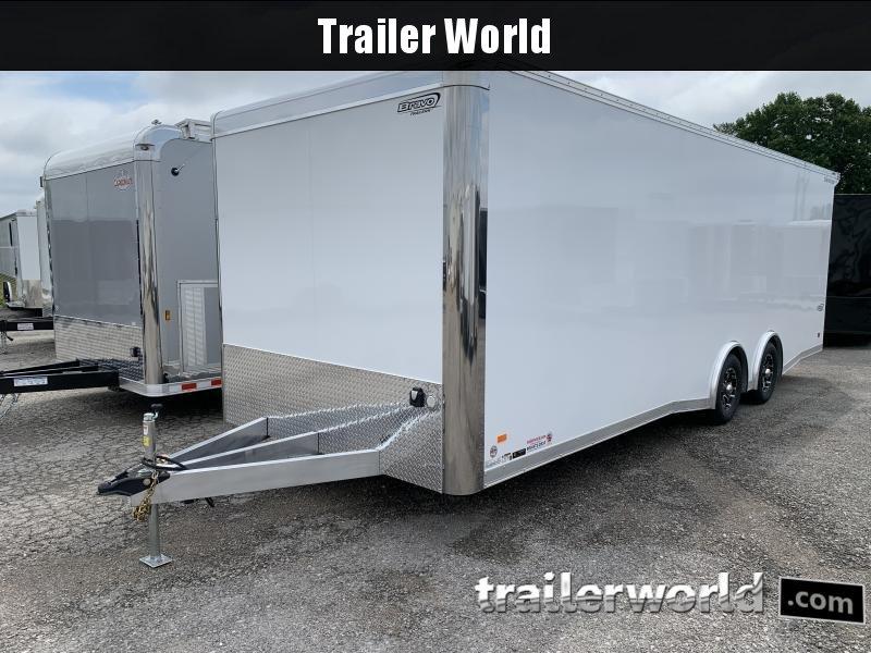 2022 Bravo Star 24' Aluminum Enclosed Car Trailer