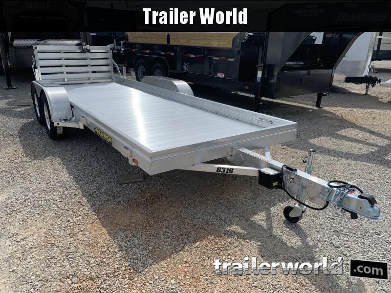 2022 Aluma 6316 16' Tandem Utility Trailer Golf Cart Hauler