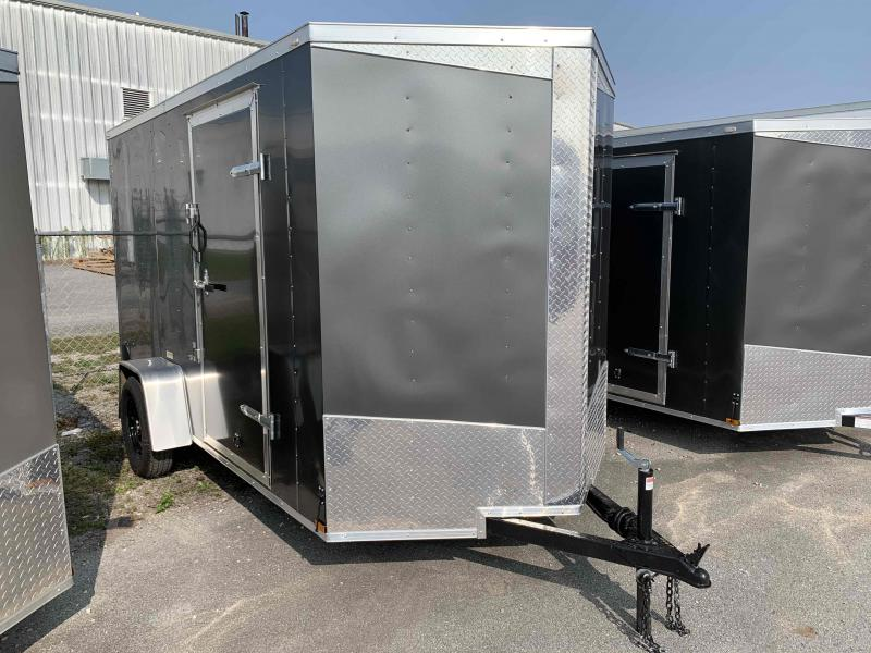 2021 Lark 6' x 12' Vnose Ramp Door Trailer