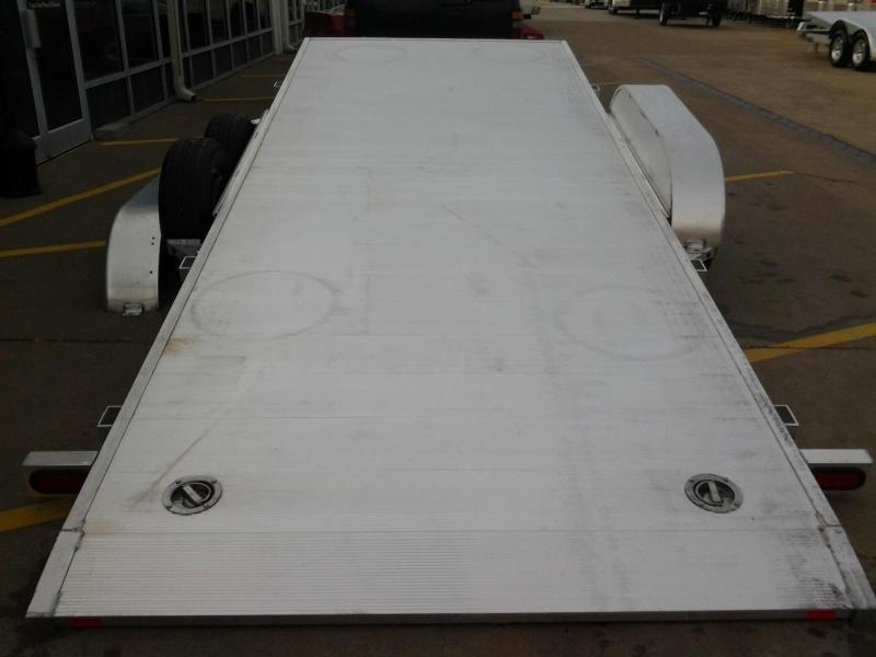 2022 Aluma 8220H Tilt Bed Aluminum Open Car Hauler Trailer 10k GVWR