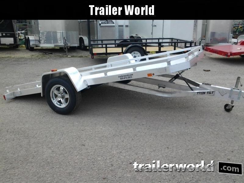 2021 Aluma 7712H 12 Tilt Aluminum Utility Trailer