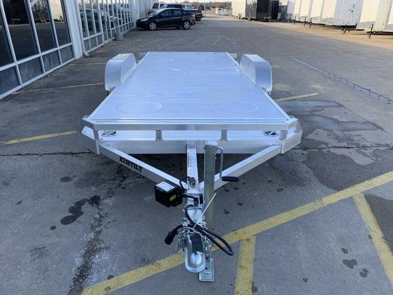 2022 Aluma 8218 Tilt Bed Aluminum Open Car Hauler Trailer