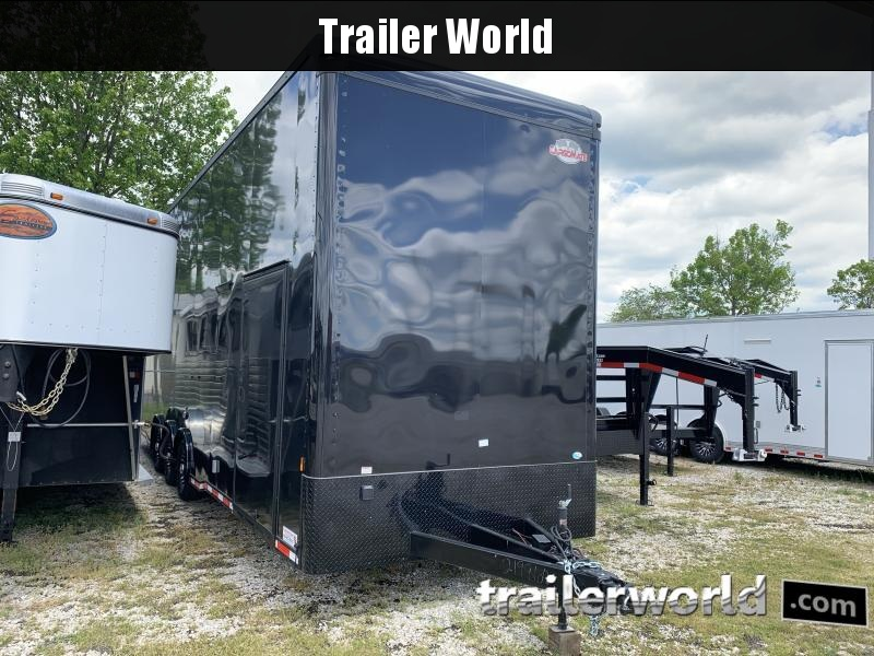 2021 Cargo Mate 30' Stacker Race Trailer Black-Out Pkg