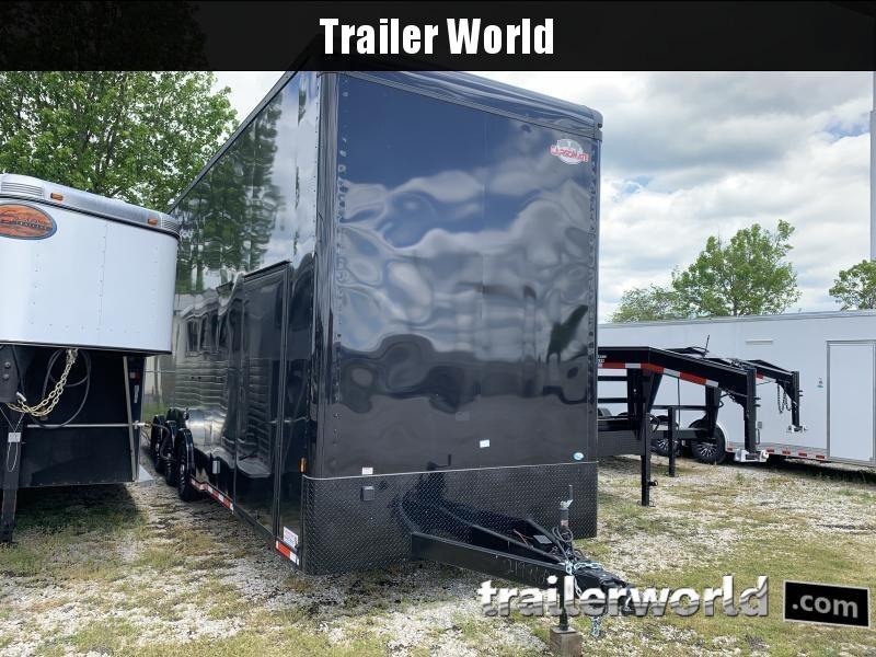 2021 Cargo Mate 30' Stacker Race Trailer Black-Out Pkg