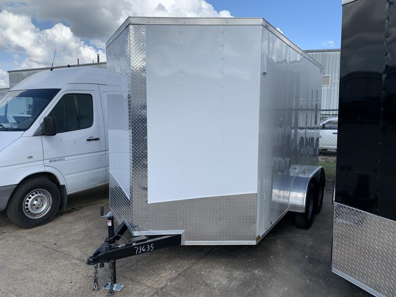 2021 Lark 7' x 12' Enclosed V Nose Cargo Trailer