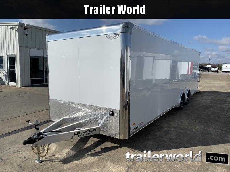 2021 Bravo Silver Star Aluminum 28' Race Trailer