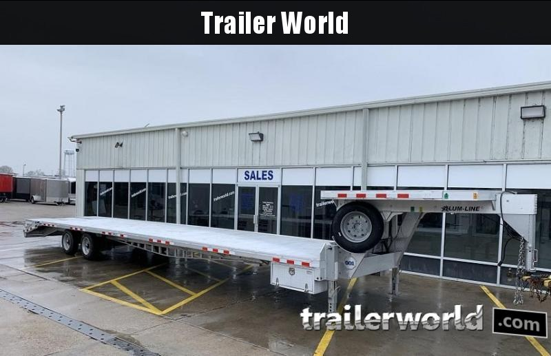 2015 Alum-Line Trailers 40' Aluminum Flatbed Equipment Trailer