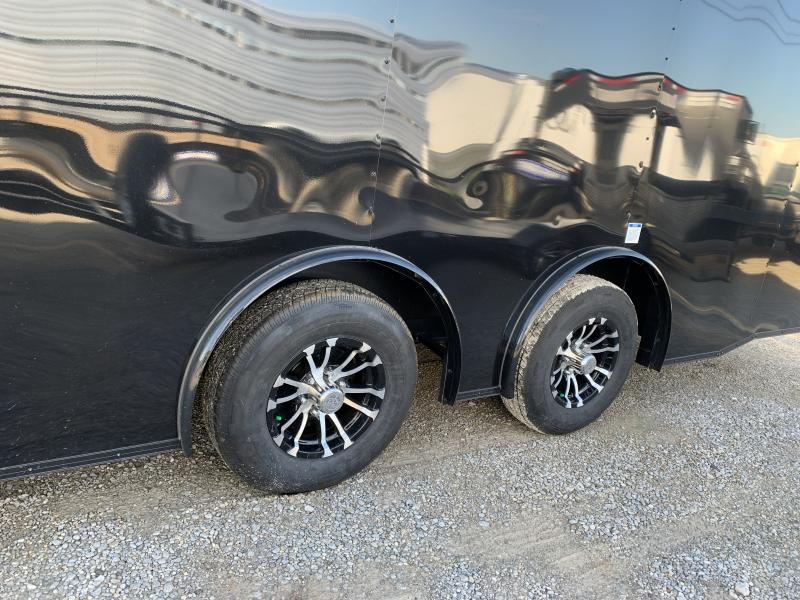 2021 Continental Cargo 24' Black- Out  Car Trailer Spread Axles 10k GVWR