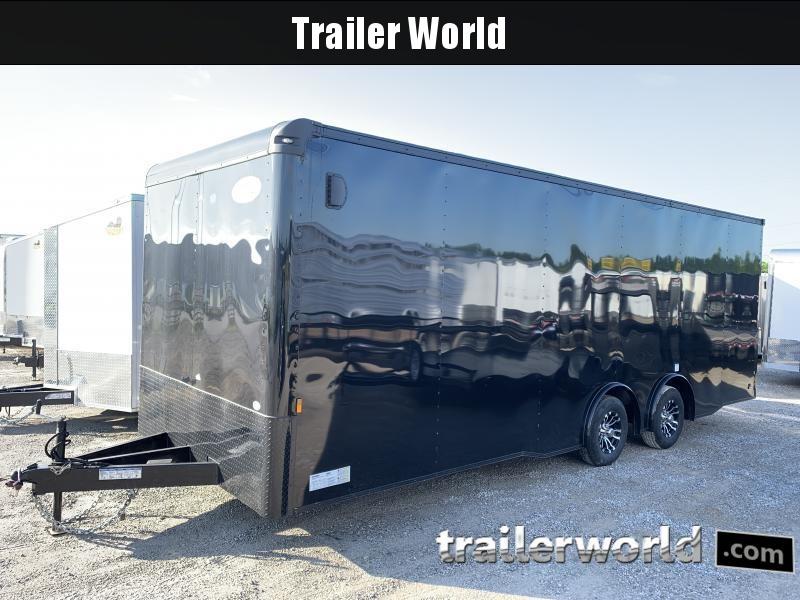 2021 Continental Cargo 24' Black- Out  Car Trailer Spread Axles 10k GVWR