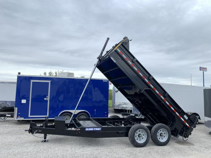 2021 Sure-Trac 14' Telescopic Dump Trailer 16k GVWR