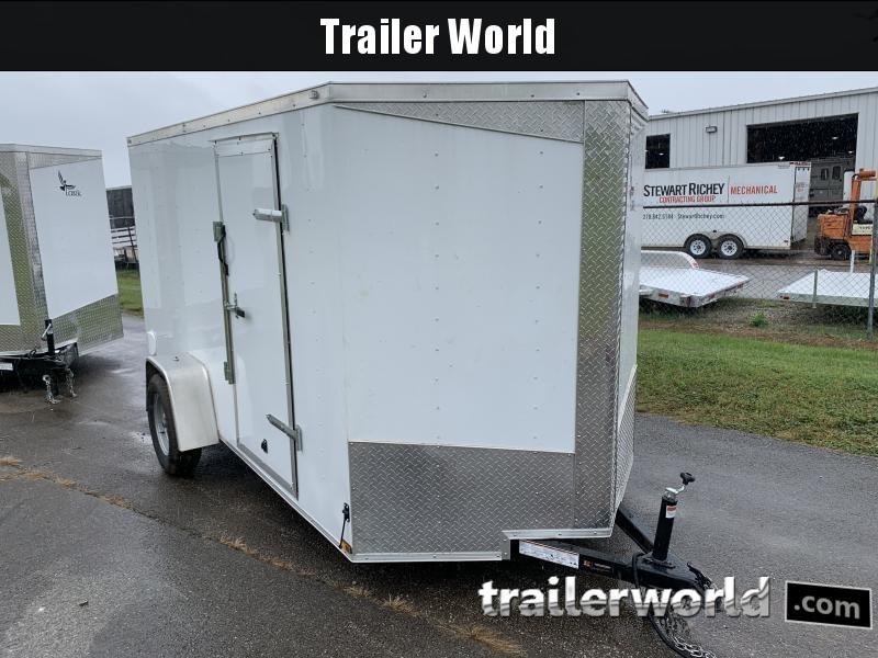 2020 Lark 6' x 12' Vnose Ramp Door Trailer