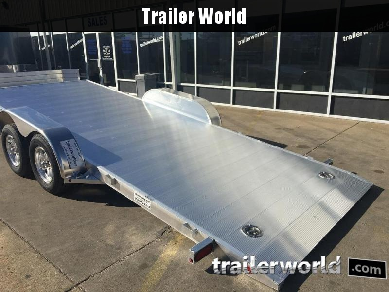 2020 Aluma 8218 Tilt Bed Aluminum Open Car Hauler Trailer