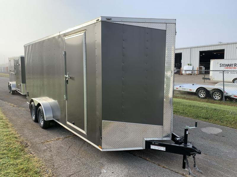 2021 Lark 7' x 18' x 7' Enclosed Cargo Ramp Door