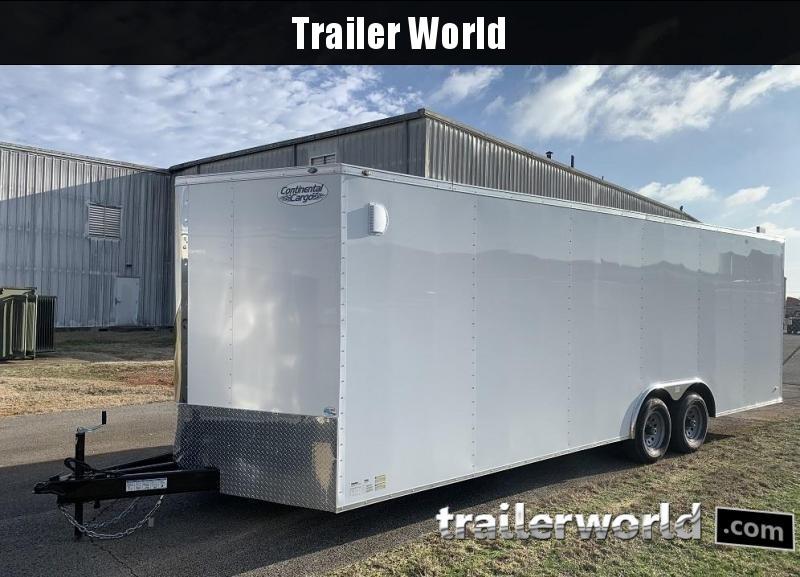 2020 Continental Cargo 24' V nose 10k GVWR Enclosed Car railer