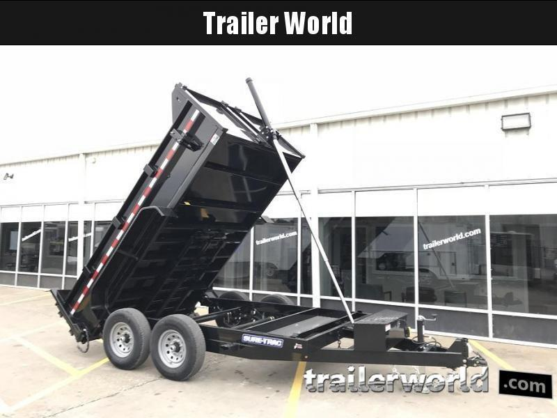 2021 Sure-Trac 12' Telescopic Dump Trailer 14K