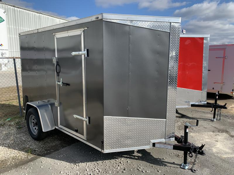2021 Lark 6' x 10' Vnose Ramp Door Trailer
