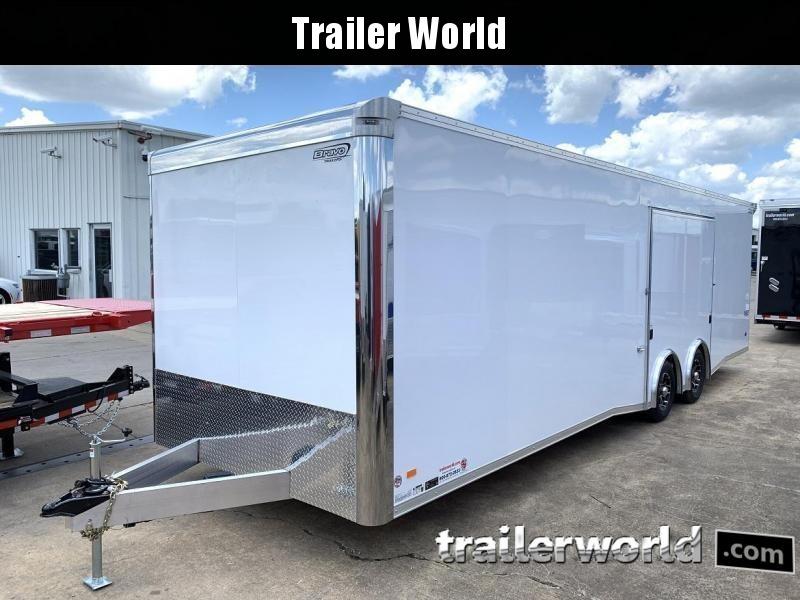 2022 Bravo Star 28' Aluminum Enclosed Car Trailer w Full Access Door