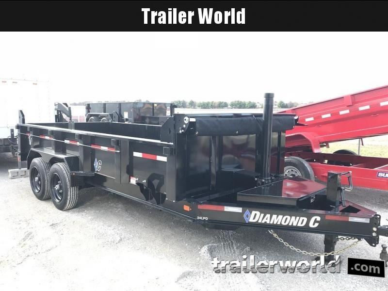 2021 Diamond C LPT 16' Dump Trailer Low Profile Commercial Grade 18K GVWR
