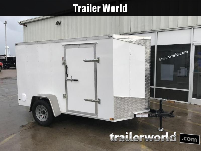 2021 Lark 5' x 10' x 5' Cargo Vnose Ramp Door Trailer