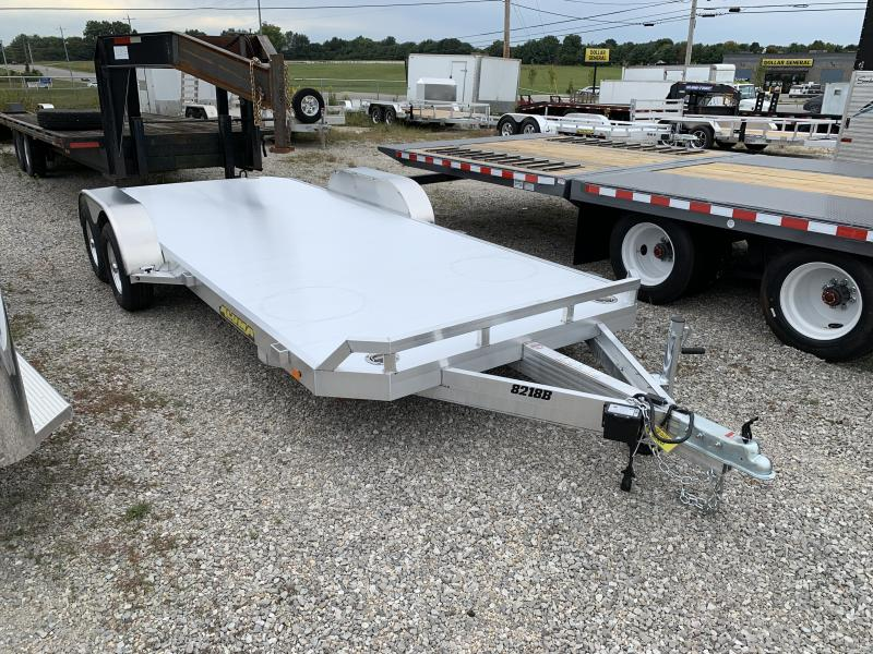 2021 Aluma 8218  18' Aluminum Open Car Trailer