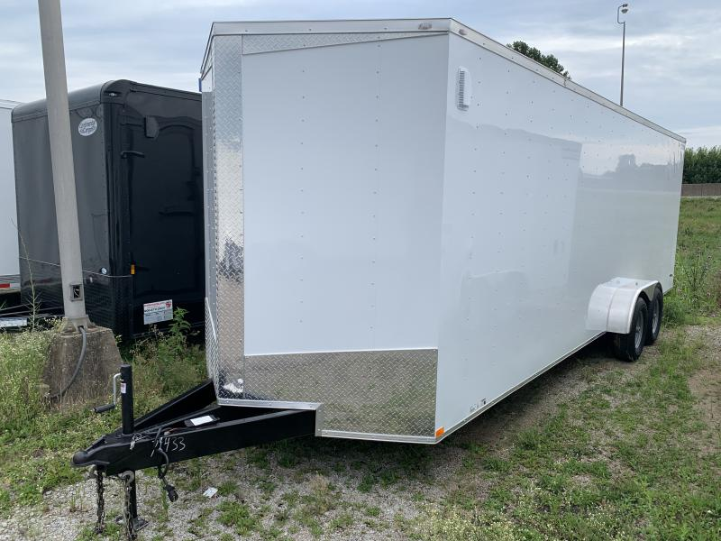 2020 Lark 7' x 24' x 7' Enclosed Cargo UTV Motorcycle Ramp Door Tandem Axle