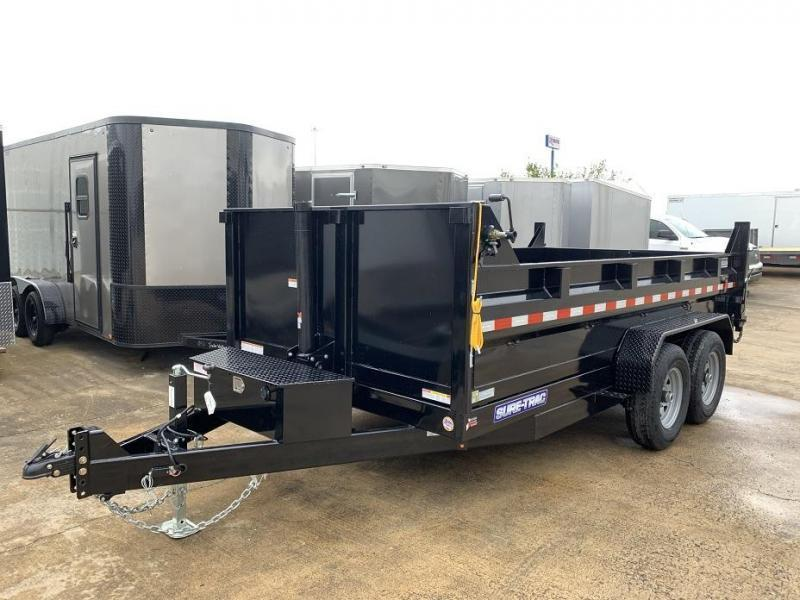 2021 Sure-Trac 14' Telescopic Dump Trailer 14k