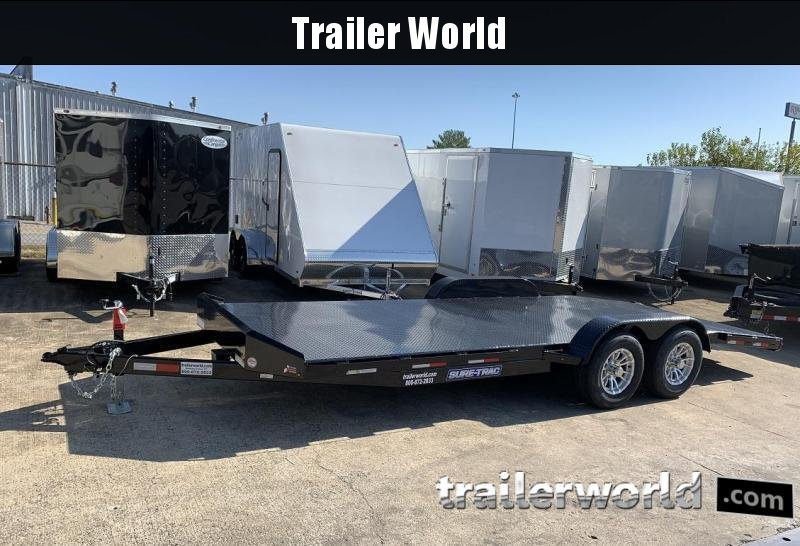 2020 Sure-Trac 22' Steel Deck Car Hauler Trailer 10k GVWR