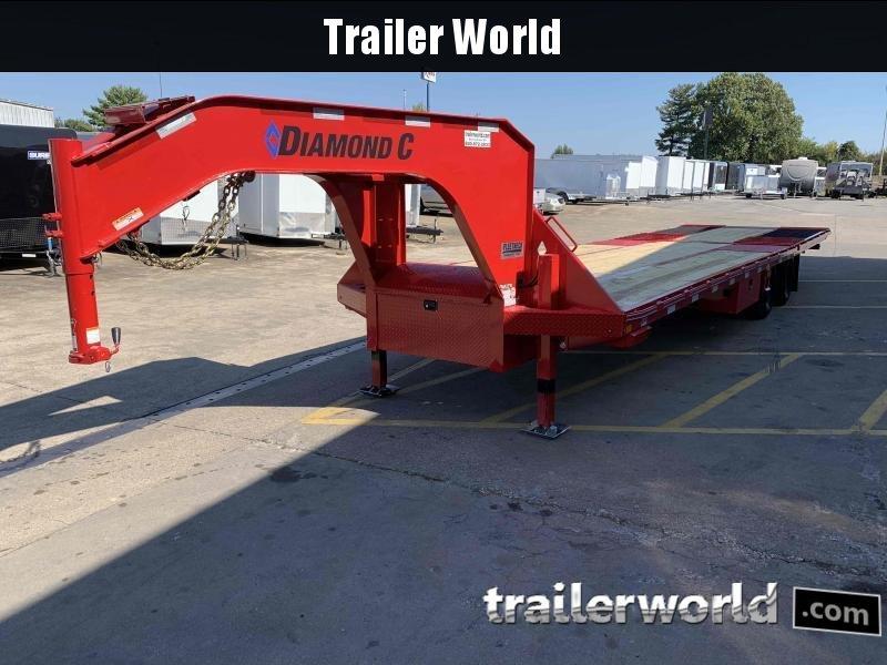 2021 Diamond C FMAX210 32 Hydraulic Dovetail Gooseneck Trailer