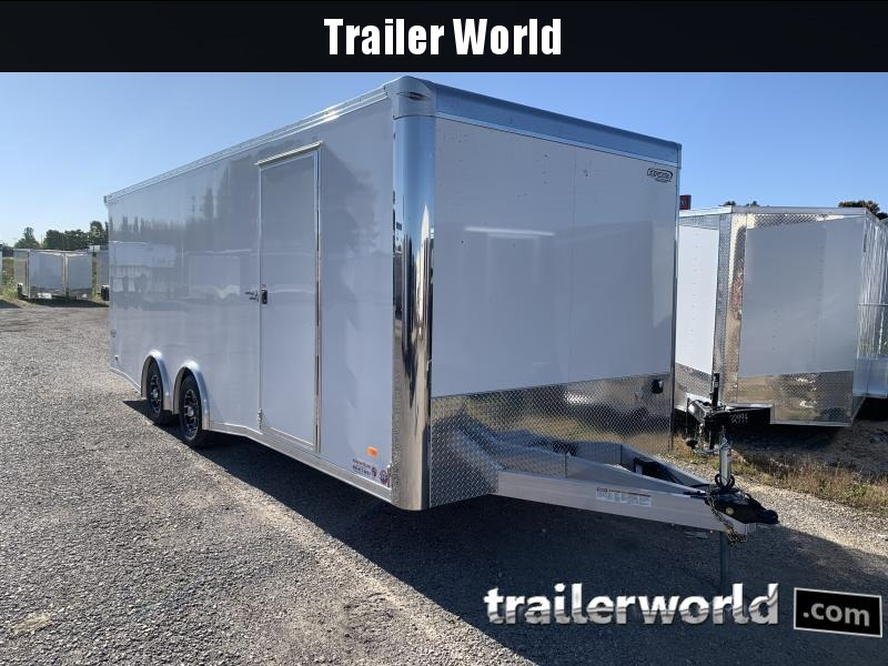 2021 Bravo Star 22 Aluminum Enclosed Car Trailer Spread Axles